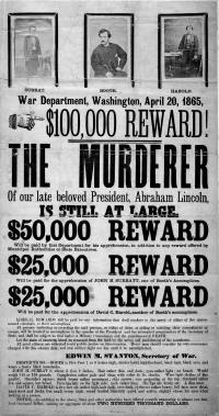 Booth's wanted poster - Click for full-size image
