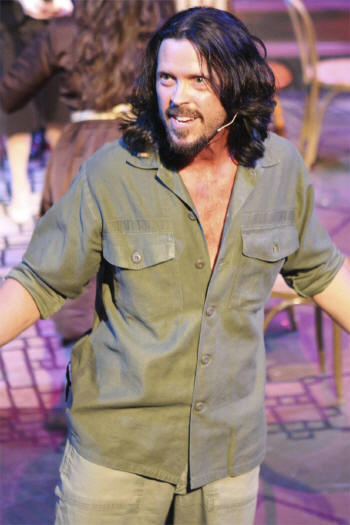 John Sparger as Che in New Line Theatre's EVITA